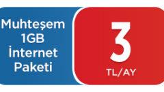 Pttcell Muhteşem 1 GB internet paketi nasıl yapılır?